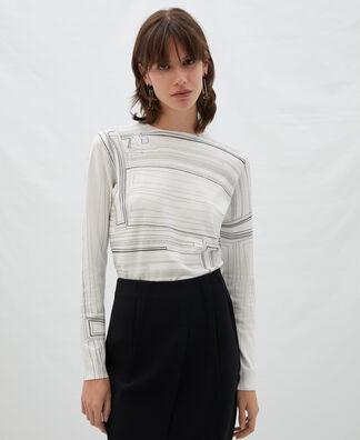 Viscose printed sweater