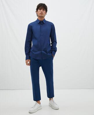 Cotton lapel collar shirt