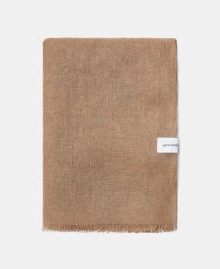 Plain linen foulard