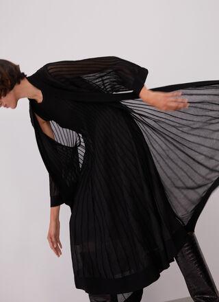 TEXTURED KNIT COCKTAIL DRESS