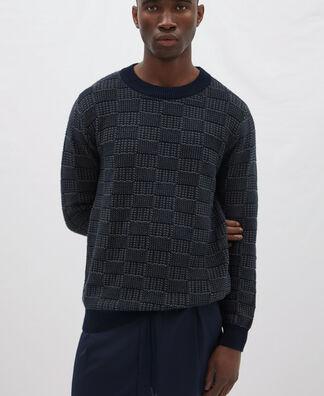 Jersey estructura de cuadros en algodón