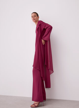 ASYMMETRIC JUMPSUIT WITH OVERLAYER