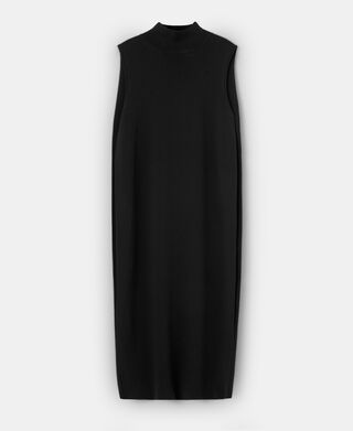 Midi dress with back cape