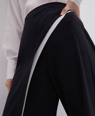 STRAIGHT TROUSERS WITH OVERLAYER