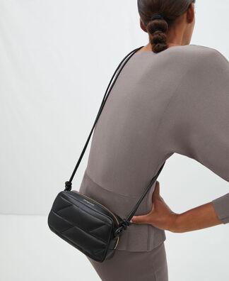 Deconstructed logo nappa shoulder bag