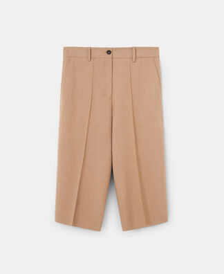 STRAIGHT SILHOUETTE LONG BERMUDA SHORTS