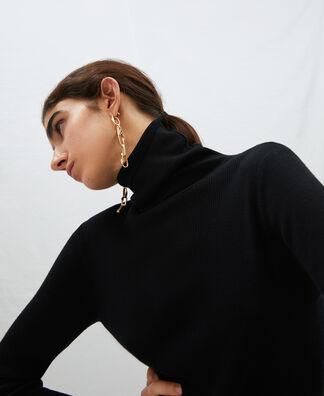 Jersey cuello vuelto en lana merino