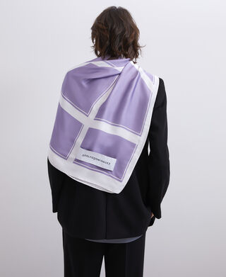 Straight printed scarf with logo