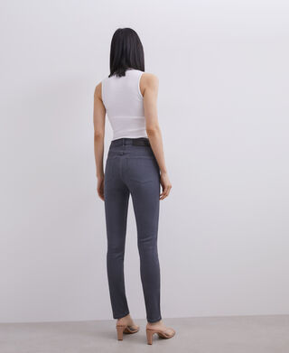 COTTON AND VISCOSE SKINNY JEANS