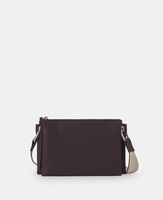 Faux leather medium shoulder bag