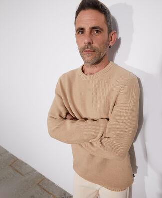 Organic cotton crew neck sweater