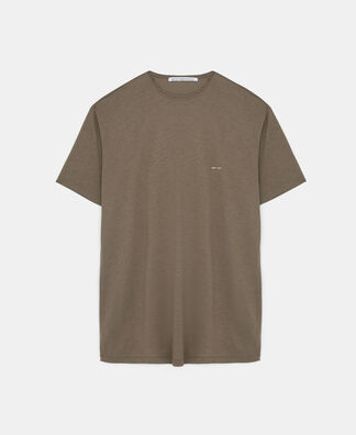 Lyocell and cotton t-shirt