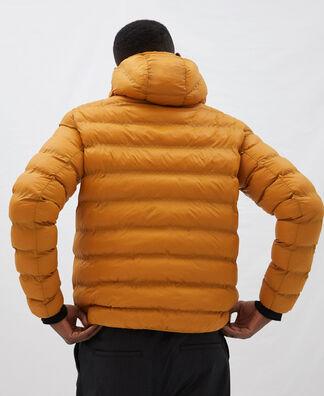 Nylon padded jacket with hood