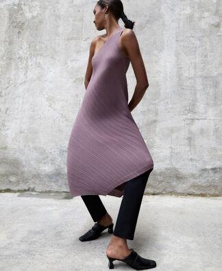 Asymmetrical crinkle dress