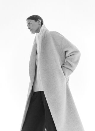 ALPACA AND MERINO WOOL TAILORING COAT