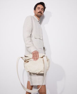 Linen maxi-pocket jacket