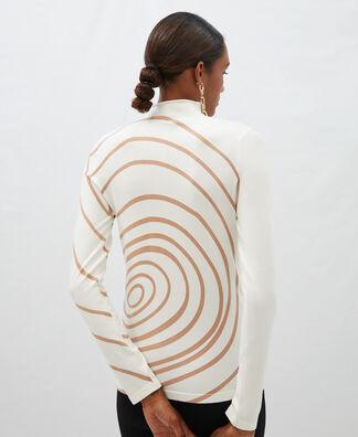 Jersey espiral en viscosa y nylon