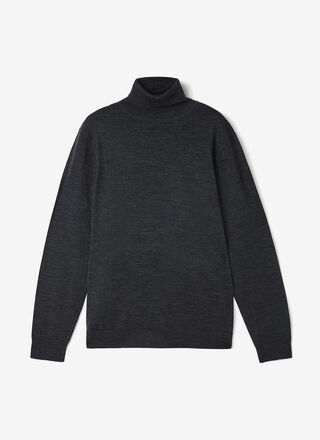 MERINO WOOL SWEATER WITH HIGH COLLAR