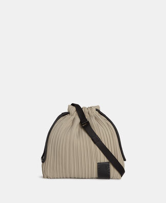 Leather textured small shoulder bag