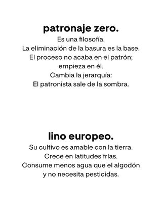 Patronaje Zero
