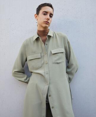 Vestido camisero con cinturón