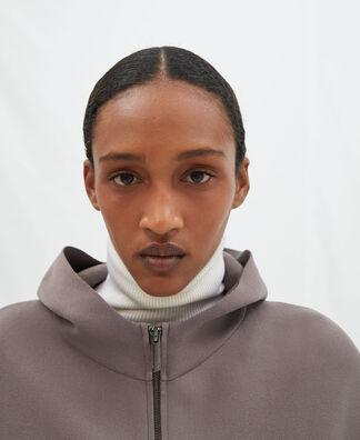 Viscose knitted hoodie