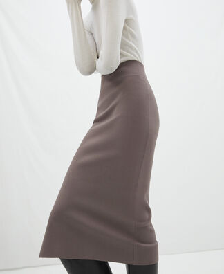 Cerrojillo knitted pencil skirt