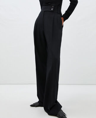 High waisted trousers pinstripe