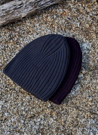 COTTON TEXTURED-KNIT BEANIE