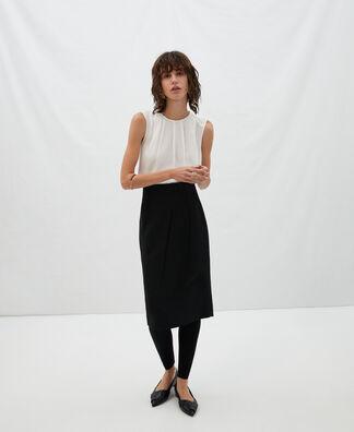 Tube skirt with darts