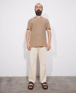 Cotton and viscose polo shirt