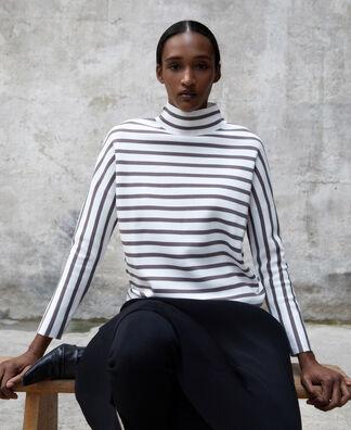 Striped jumper in cerrojillo knitted