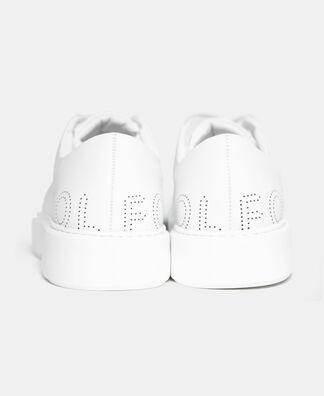 Sneakers with die-cut logo