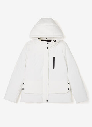 Padded fitted hooded jacket