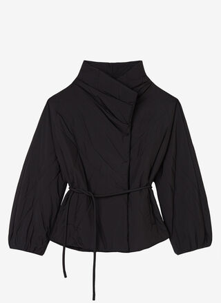 PADDED JACKET WITH SIDE CLOSURE