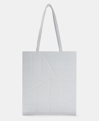 Tote bag with geometric lines