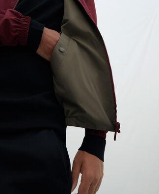 Mandarin collar reversible Harrington