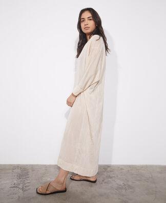 Oversize viscose knit dress