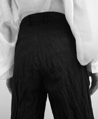 Metal fibre straight trousers