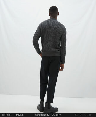 Cotton and wool eights sweater