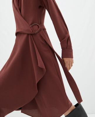 Wrap dress with side lacing