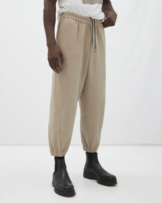 Ankle length elasticated nylon trousers