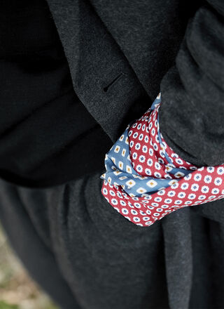 MULBERRY SILK TIE WITH POLKA DOTS